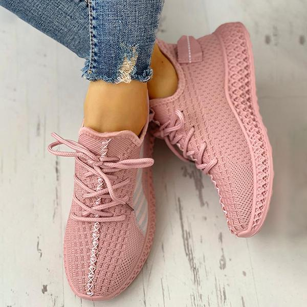 Valuedshoes Lace-Up Breathable Casual Sneakers
