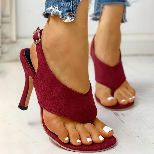Valuedshoes Toe Post Slingback Thin Heeled Sandals