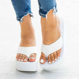 Valuedshoes Flip-flops Foam Wedge Heel Sandals