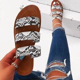 Valuedshoes Stylish Slip-On Flip Flop Serpentine Summer Slippers