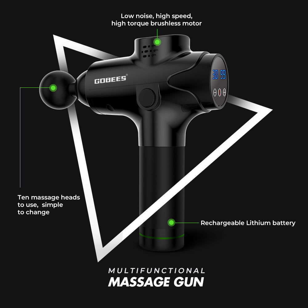 Valuedshoes Massage Gun Portable Handheld Electric Quiet Body Powerful Massager