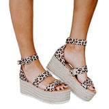 Valuedshoes Espadrille Open Toe Ankle Strap Platform Sandals (Ship in 24 Hours)