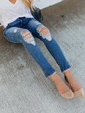 Valuedshoes Broken Hole Stretch Slim Fit Jeans