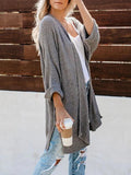 Valuedshoes Easy Knit Grey Mint Cardigan Sweater