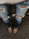 Valuedshoes Hole-breaking Slim-fit Jeans
