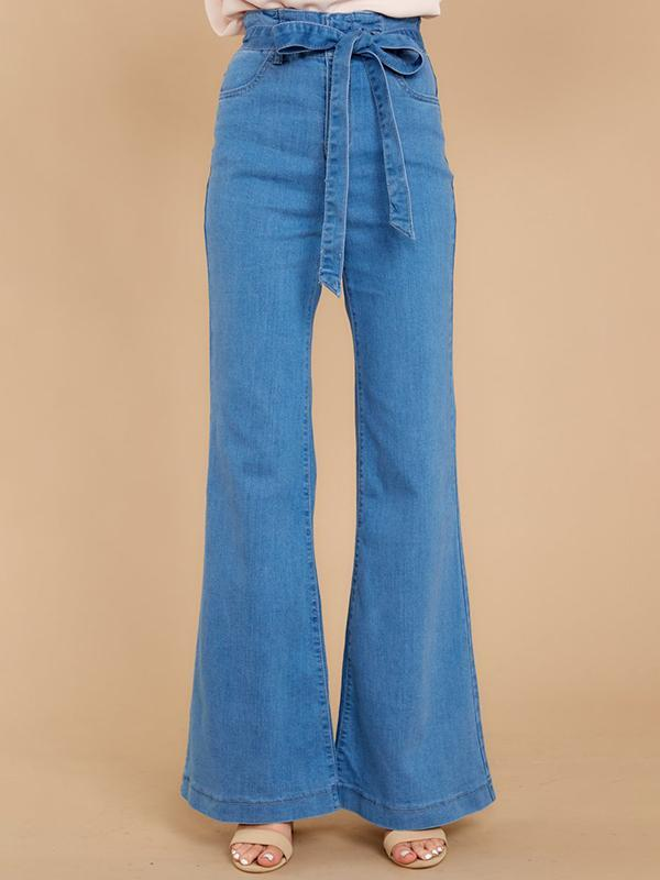 Valuedshoes High-waist Wide-leg Flared Jeans