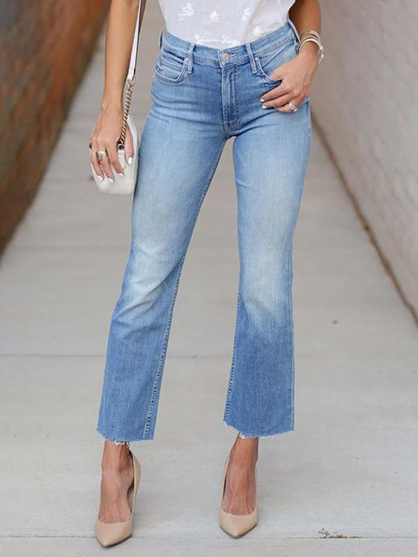 Valuedshoes Slim-fit Cropped Flare Jeans
