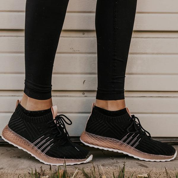 Valuedshoes Comfy Pink Stripe Athletic Sneakers