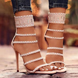 Valuedshoes Women Gladiator Open Sanl Heel