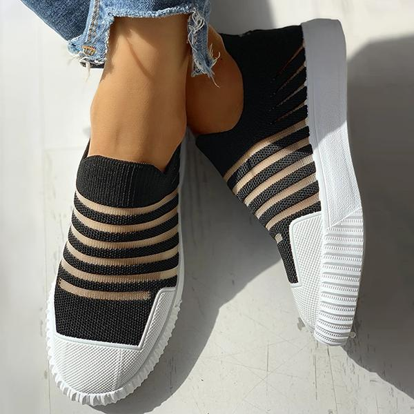 Valuedshoes Hollow Out Patchwork Casual Sneakers