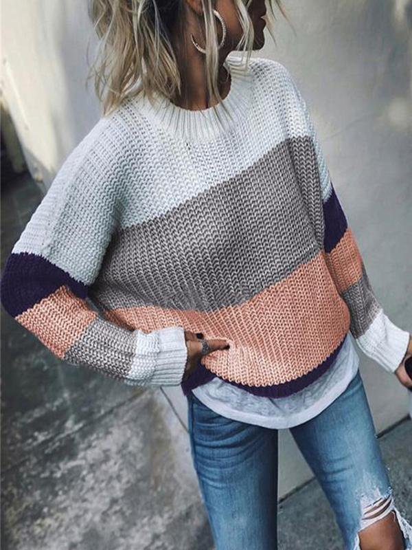 Valuedshoes Casual Colorblock Sweater