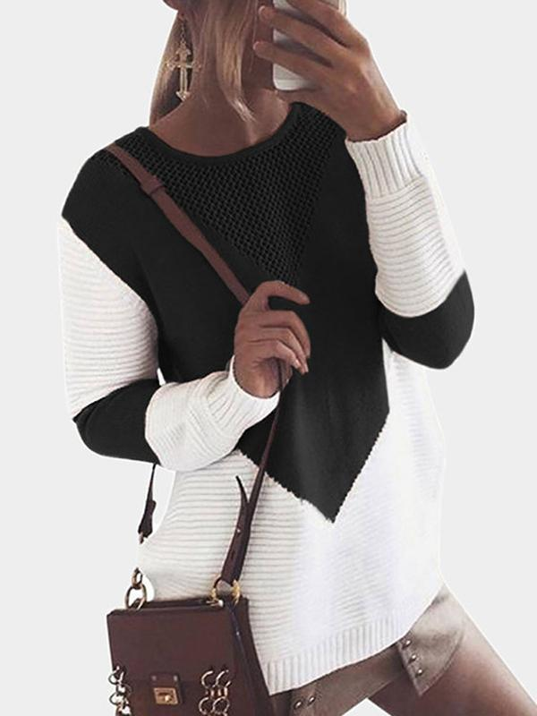 Valuedshoes Crew Neck Loose Knitted Sweater