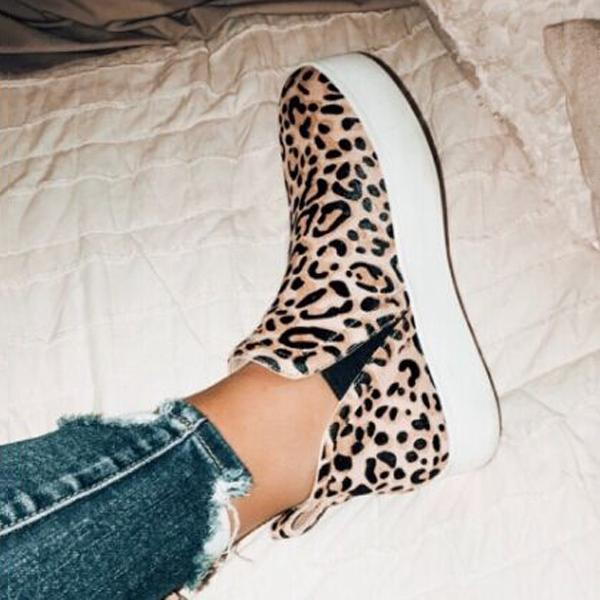 Valuedshoes Women Leopard Casual Sneakers