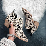 Valuedshoes Trendy Leopard Ankle Booties