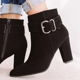 Valuedshoes Women Fashion Zipper Ankle Boots