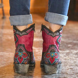 Valuedshoes Women Red Western Boots