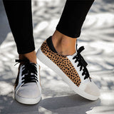 Valuedshoes Faux Suede Women Leopard Sneakers
