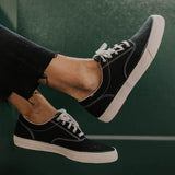 Valuedshoes Casual Black Lace-Up Sneakers