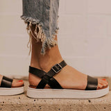Valuedshoes Adjustable Buckle Platform Sandals