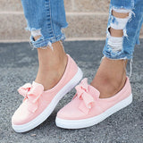 Valuedshoes Women Casual Bowknot Loafers Sneakers