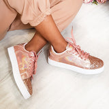 Valuedshoes Women Glitter Metallic Sneakers