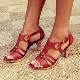 Valuedshoes New Elegant Pumps Vintage Women Sandals
