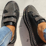 Valuedshoes Studded Insert Sequins Sneakers