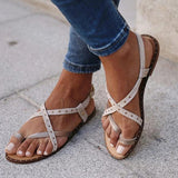 Valuedshoes Casual Rivet Decoration Buckle Flat Sandals