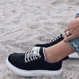 Valuedshoes Women Daily Casual Lace-up Flat Sneakers