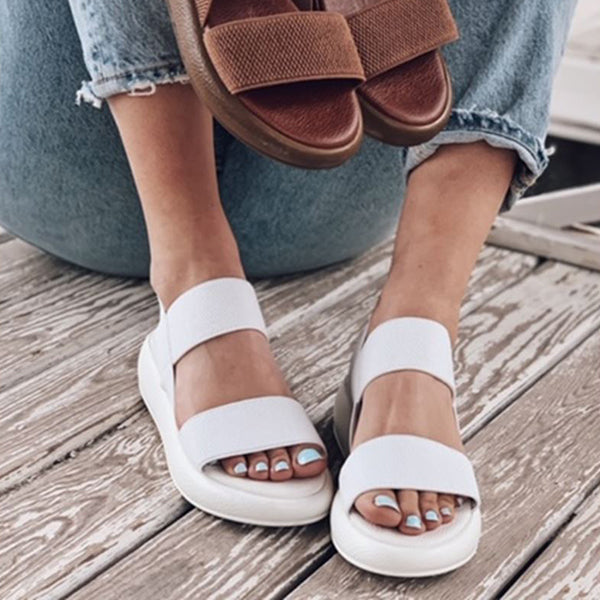 Valuedshoes Women Casual Solid Color Sandals