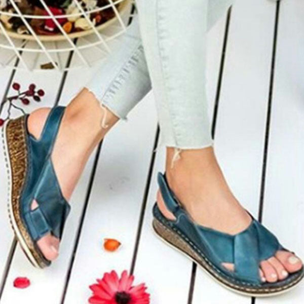 Valuedshoes Wedge Comfort Fish Mouth Sandals