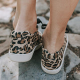 Valuedshoes Women Casual Leopard Lace-up Sneakers