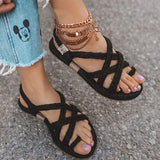 Valuedshoes Women Casual Summer Lace Up Slide Sandals