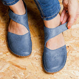Valuedshoes Flat Heel Magic Tape Loafers
