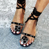 Valuedshoes Women Casual Lace-Up Holiday Flat Sandals