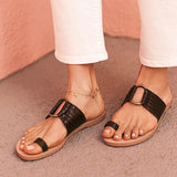 Valuedshoes Women Ring Strap Flat Sandals