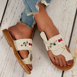 Valuedshoes Summer Fleece Embroidery Slippers