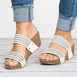 Valuedshoes Round Toe Wedges Casual High-Heeled Sandals