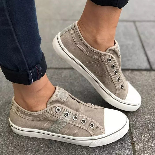 Valuedshoes Canvas Round Toe Casual Outdoor Women Sneakers