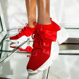 Valuedshoes Women Lace-Up Fashion Sneakers