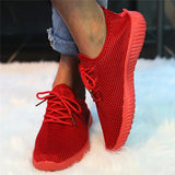 Valuedshoes Women Simple Lace Up Breathable Sneakers