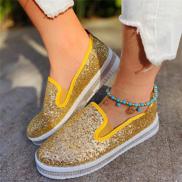 Valuedshoes Women Fashion Shining Loafers Flats