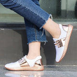 Valuedshoes Comfortable Shining Lace-Up Sneakers