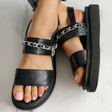 Valuedshoes Chain Detail Slingback Sandals