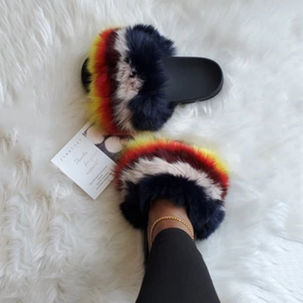 Valuedshoes Women Fashion Fluffy Slippers