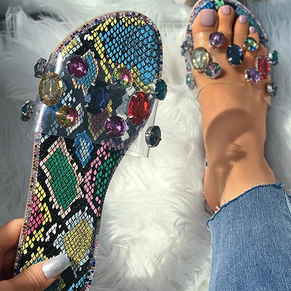 Valuedshoes Studded Open Toe Slippers