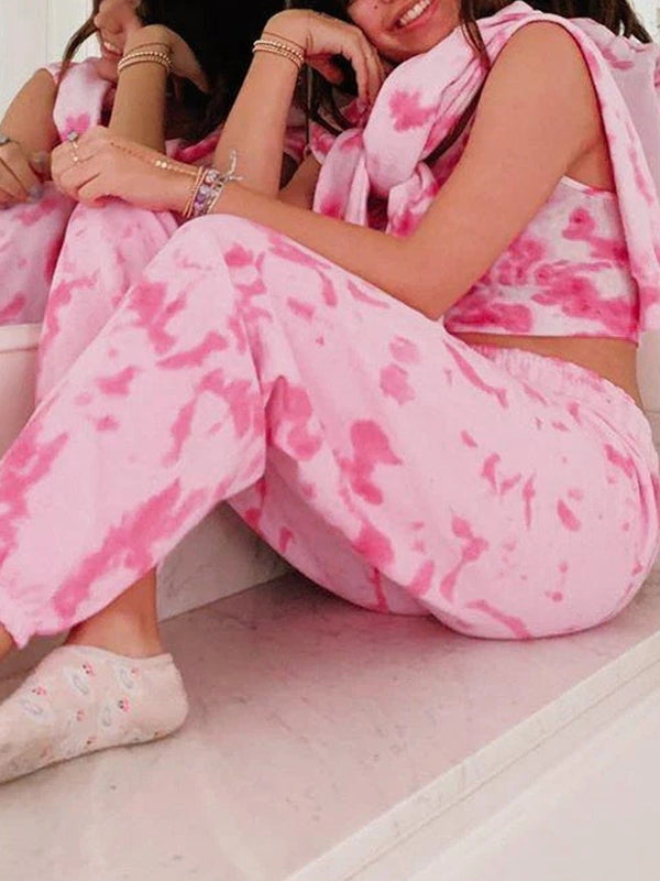 Valuedshoes Women Printing And Dyeing Home Pajamas Set