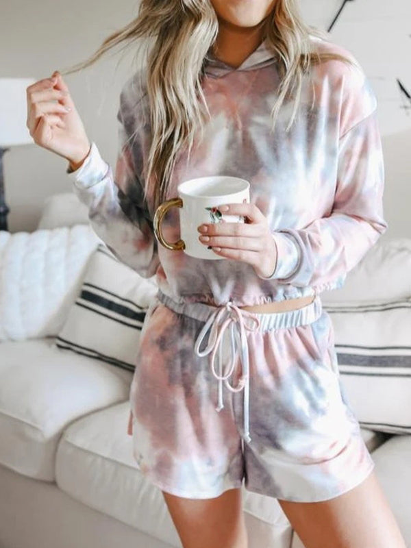 Valuedshoes Women Hooded Long Sleeve Pajama Set