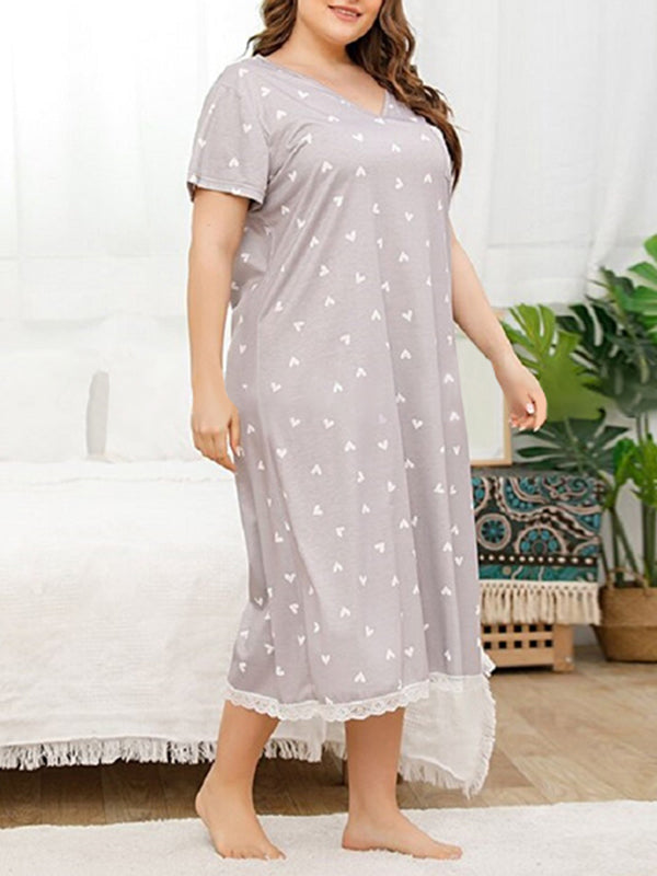 Valuedshoes Women Summer Loose Plus Size Long Dress