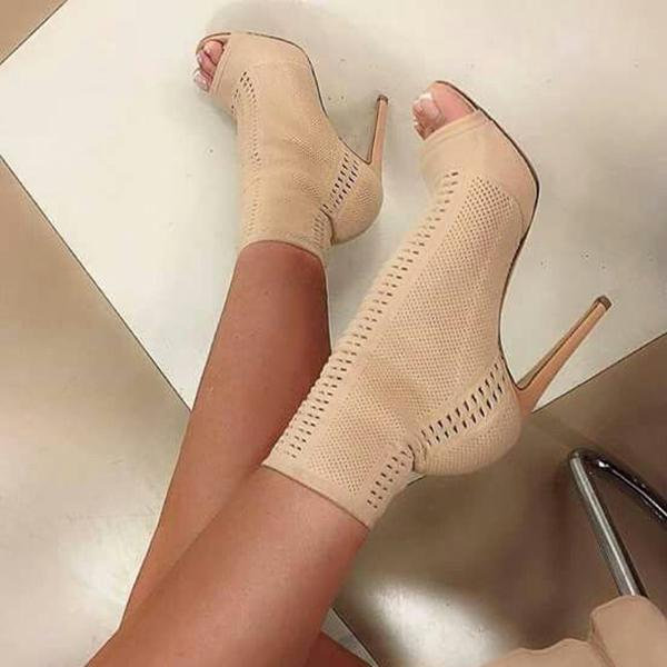 Valuedshoes Women Fashion Chic Peep Toe High Heels
